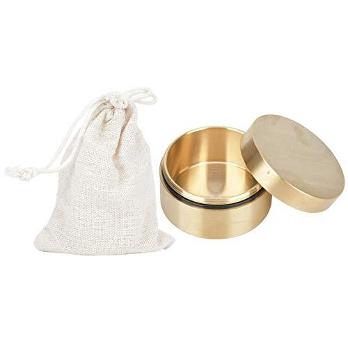 SALUTUYA Caja de latón Resistente al Agua sin Revestimiento, portátil, Ligera, Resistente a la Humedad para almacenar Pastillas, Monedas, Hojas de té(Large)