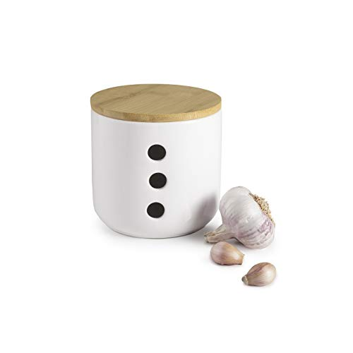 IBILI Tarro para AJOS Ceramic+Bamboo