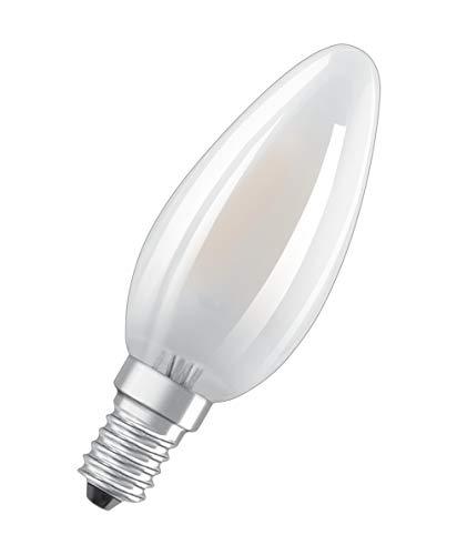 OSRAM Lot de 10 Ampoules LED | Culot E14 | Blanc froid | 4000 K | 4 W équivalent 40 W | dépolie | LED Retrofit | Forme flamme