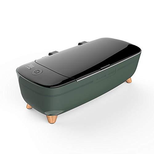 LZHJ 12V tragbarer Ultraschallreiniger, 400ml Ultraschall-Reinigungsmaschine, für Schmuckglas-Rasiermesser-Körperpflege-Werkzeuge,Grün