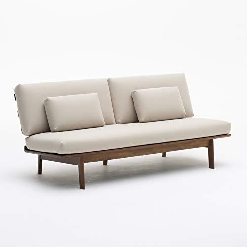 【カリモク正規品】ソファー3人掛け長椅子ベージュ幅179cm平織布張karimokuWG3003IAK