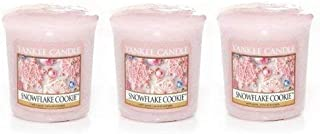 3 Yankee Candle SNOWFLAKE COOKIE Sampler® Votive Candles 1.75 oz each