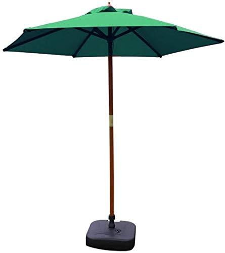 Sombrilla Parasol con Ángulo Ajustable 7 pies Sombrillas Sombrilla for el patio al aire libre Jardín Tabla paraguas, paraguas Yard camping piscina Con Sólido soporte de madera ( Size : Dark Green )