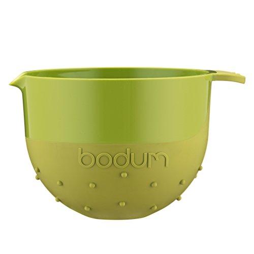 Bodum Bistro ciotola, da ciotola, ciotola per impasto, antiscivolo, in plastica, verde lime, 1,4 L, 11562-565B
