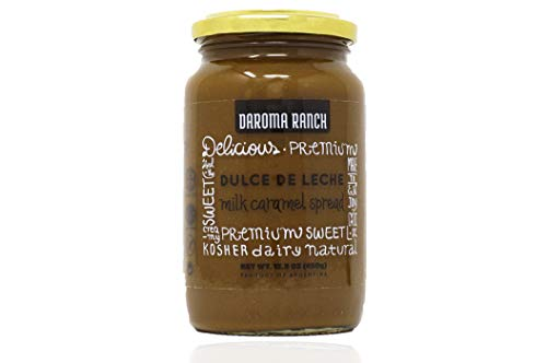 Daroma Ranch Dulce De Leche Argentina - Milk Caramel Spread Gluten Free - Dulce De Leche Kosher - Cholov Yisrael - Made in Argentina - 15.8 Oounces (450g) - Pack of 1