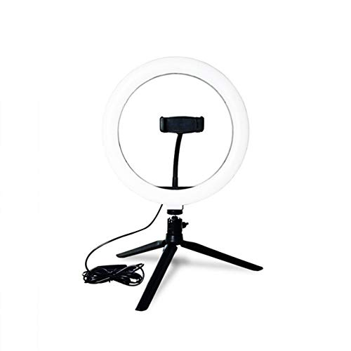 LED Ring slonzig Studio Foto Video dimbare lamp statief selfie Camera Phone Fotografie & grafische vormgeving (Color : Black)