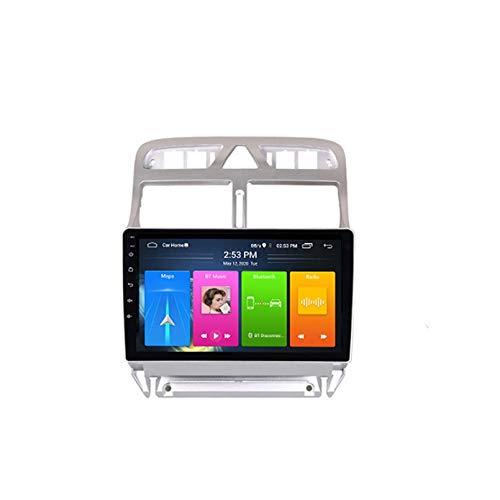 Android10.0 IPS2.5D Player Split Screen Player GPS Navi Multimedia para 2004 2013 Peugeot 307 307CC 307SW Radio Estéreo Audio(Color:WiFi:1+16G)