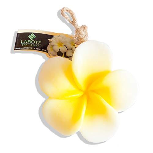 LABOTE Handgemachte thailändische Bio Naturseife Plumeria Weiss-Gelb mit typischem Duft
