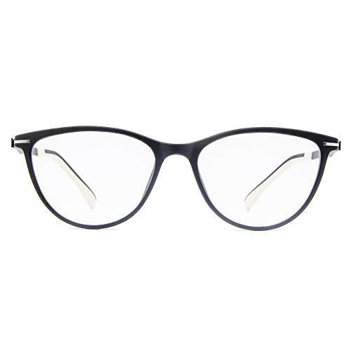 Cyxus Bloqueo de luz Azul Moda Retro Redondo Marco [Mejor Dormir] Gafas de Computadora Bloquear UV Anti Fatiga de Ojos Unisexo Adulto