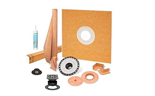 """Schluter Kerdi Shower Kit 38""""x38"""" with ABS Stainless Steel Drain KSK965ABSE with Joint Sealant"""