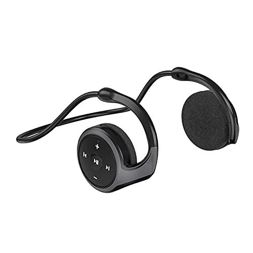 C-LARSS A23 TWS Bluetooth 5.0 Auriculares Inalámbricos Radio FM Tarjeta TF Auriculares Deportivos Estéreo Gancho para La Oreja para Android Negro
