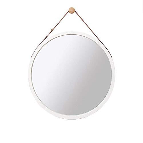 Nordic Wall Runder Spiegel Wand- Badezimmer Spiegel Dressing Spiegel, Spiegel, Badezimmer Dekoration, Hängenden Spiegel (Farbe : Weiß, größe : 38cm)