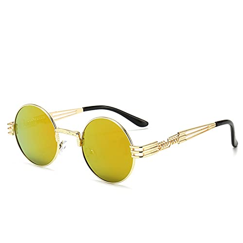 DAIDAICDK Metal Round Frame Sunglasses Colorful Gradient Sunglasses Travel Outdoor Eyewear Car Accessories