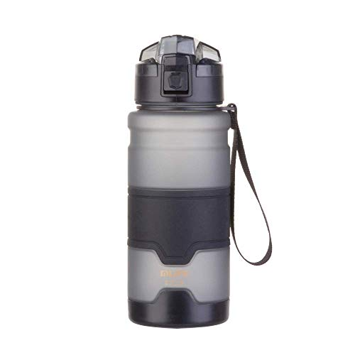 Bakeware Sets Gray 700ML Oil Spray Space Cup Straight with Drop-Resistant and Leak-Proof Plastic Student Outdoor Plastic Water Bottle