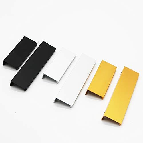HUANGDANSEN Cabinet Handles Cabinet Pulls Drawer Knobs Black Silver Orange Gold Hidden Handles Stainless Steel /4Pcs
