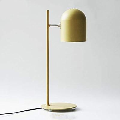 Jfsmgs Lampe de Table CréAtive Personnalité Nordique Moderne de la Mode decoraction E27 110V / 220V Lampes de Table for Chambre/Salon éclairage de la Salle (Lampshade Color : Green)