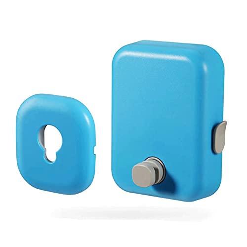 muuunann Línea de secado de lavandería CREATIVA COMIDA INTERIOR Montado Telescópico Secado Tendedero Ropa retráctil Titular de la línea de ropa para uso doméstico Montado en la pared (Color: Azul, Tam