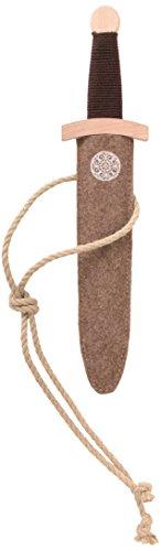 Stabiles Dolch-Set Wikinger mit Wikingerdolch aus Holz und Dolch-Scheide aus Filz, 35 cm Länge