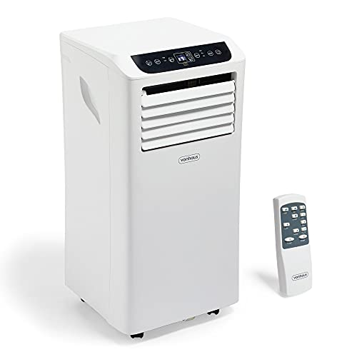 VonHaus 4-in-1 Air Conditioner with Remote Control, 9000BTU Air Cooler With 24-Hour Timer, LED Screen and Remote Control AC Unit With Window Venting Kit