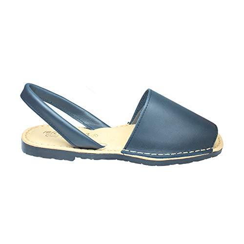 Ibicencas Autentica Ibiza Minorca sandali fatti in Spagna con imbottito Sole Per Donna Blu 39 UE