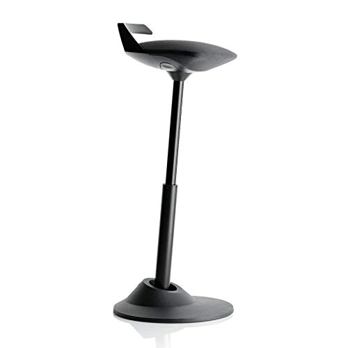 AERIS Muvman Sit-Stand Stool (Black Seat/Black Base)