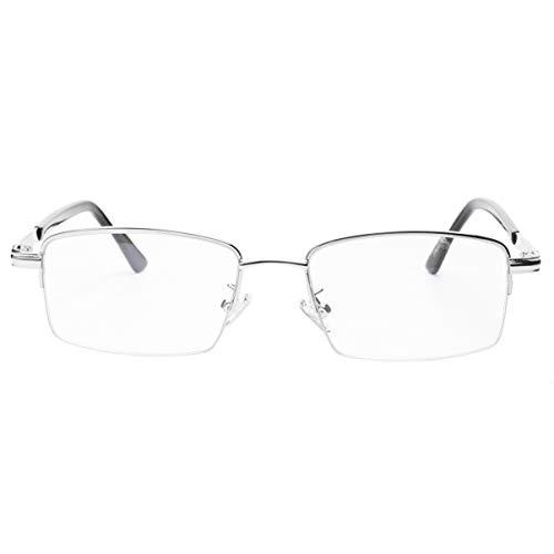EXCEART Smart Zoom Óculos de Leitura Anti Luz Azul Multi Leitor de Óculos de Leitura Aro Foco Multifocal Óculos de Metal (2. 5) para O Homem E As Mulheres