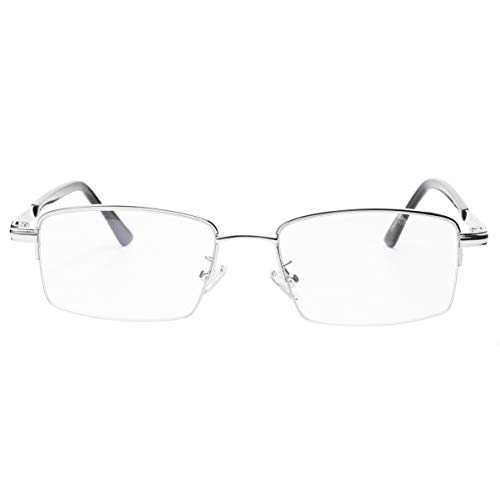 MILISTEN Gafas de Lectura Zoom Inteligente Anti Luz Azul Gafas de Lectura Multifoco Lector sin Montura Gafas de Metal Multifocales (2. 5) para Hombres Y Mujeres