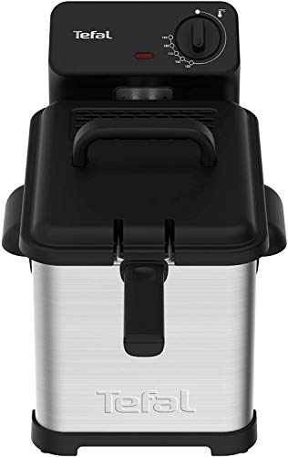 Tefal Family Pro Access Fritteuse mit Öl, Kapazität: 4,0 Liter, spülmaschinengeeignete Teile, herausnehmbarer Behälter, 3000 Watt, Schnelle Aufheizzeit, Perfekte Frittierergebnisse, Edelstahl-Schwarz