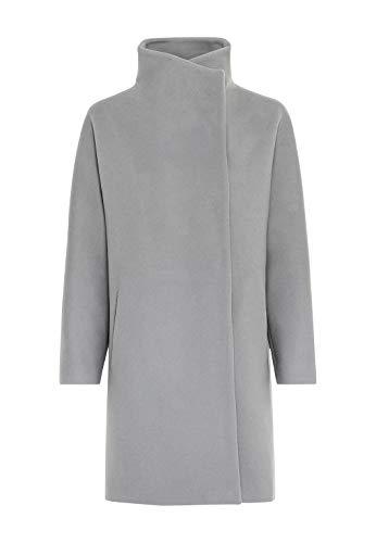 HALLHUBER Flauschiger Kimonomantel aus Italienischer Premiumwolle weit geschnitten Silbergrau, 40