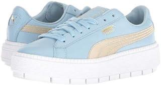 PUMA(プーマ) レディース 女性用 シューズ 靴 スニーカー 運動靴 Platform Trace Varsity - Cerulean/Metallic Gold [並行輸入品]
