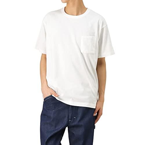 EDWIN エドウィン 半袖Tシャツ メンズ ハタラクT ポケット付きクルーネック半袖Tシャツ 半袖 Tシャツ ETH001 ホワイト:M