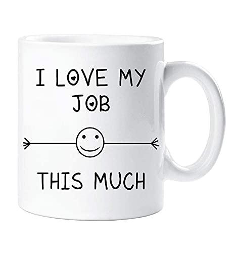 Amo il mio lavoro Questa tazza molto amico Impiegato d'ufficio Segreto Babbo Natale Compleanno Natale Novità Umorismo Divertente 9XS2A9
