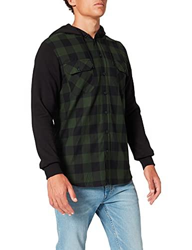 Urban Classics herr huva rutig flanell tröja fritid