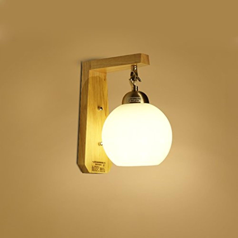 Kronleuchter aus Massivholz Nachttisch Lampe, die solarleuchte Wandleuchte Wandleuchte leuchten Flur Aufenthaltsraum Balkon Schlafzimmer (Gre  S LED)