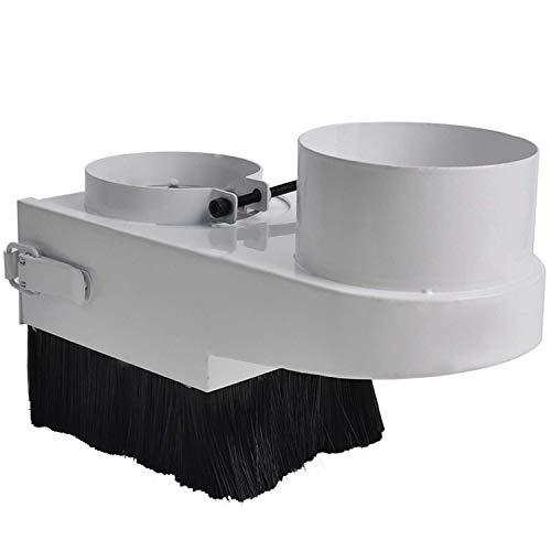 JF-XUAN 90mm DIY CNC Herramienta Cubierta de Polvo Colector Serie Azul Cepillo del Aspirador de CNC Motor del Huso de la carpintería Indicadores de Controles