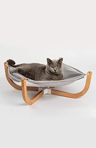 pidanピダン猫ベッドハンモックスタンド型洗える綿麻木製