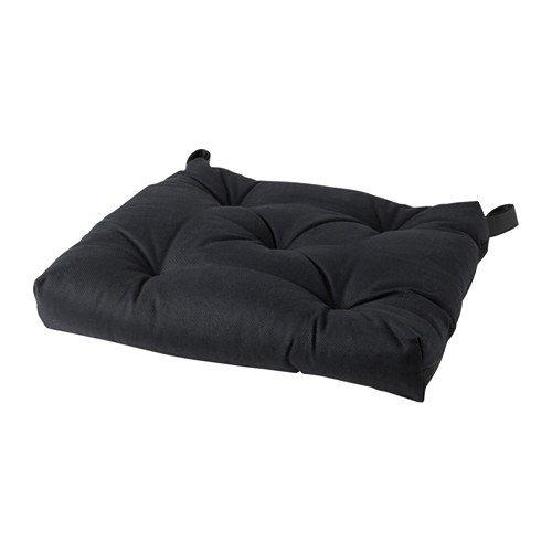 IKEA Malinda Stuhlkissen in schwarz; (40/35x38x7cm)
