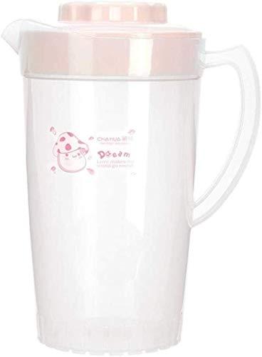 Jugs Cool Kettle Vajilla de plástico Hervidor de frío Hervidor de frío Diseño de gran capacidad Impresión Transparente Copa de agua fría Jugo Bebida fría Pot 2000ml Resistente al calor (Color: Azul, T