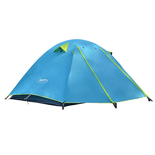 20D Silicone Backpacking Tent 2 Person For Backpacking Cycling Hiking Camping (Color : Blue)
