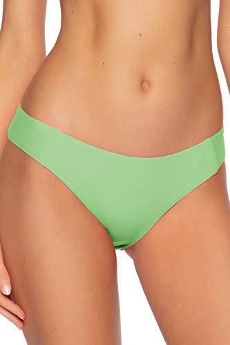 Becca by Rebecca Virtue Women's American Tab Side Hipster Bikini Bottom Mint M
