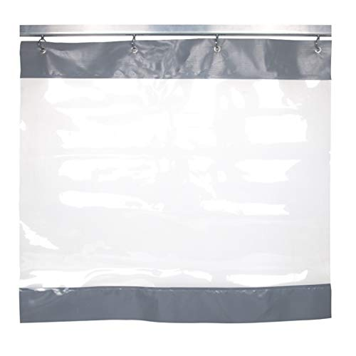 GDMING Waterproof Tarpaulin, Transparent Plastic Partitions Divider, Waterproof Dust-proof Social Distancing Screen For Hall Office Garage, Custom Size (Color : Gray, Size : 1.6x1.8m)