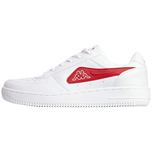 Kappa Unisex-Erwachsene BASH MF Sneaker, Schwarz (White/Red 1020), 39 EU