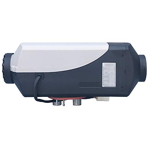 Huachaoxiang Precalentador De Combustible del Coche Diesel, Calefacción Aire-Aire Diesel Aire para Barcos, Autobús Caravana Camiones con Salida Interruptor LCD Rojo,Gris