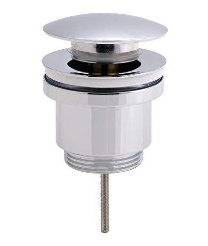Kibath L469371 Válvula CLIC CLAC universal con casquillo fabricada en latón con acabados en cromo brillo. Medida para desagüe push up de lavabos y bidets estándar. Repuestos originales garantizados