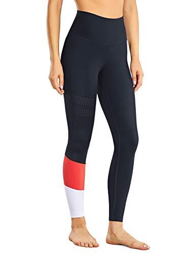 CRZ YOGA Mujer Leggings Deportivos Opacos Barriga Control Pantalones de Jogging con Bolsillos -63cm Multicolor #3 40