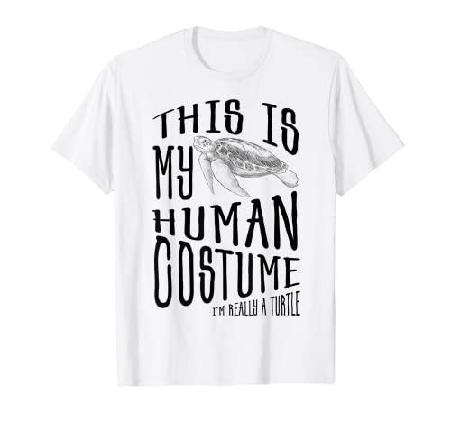 Camiseta divertida Este es mi disfraz humano Soy realmente una tortuga Camiseta