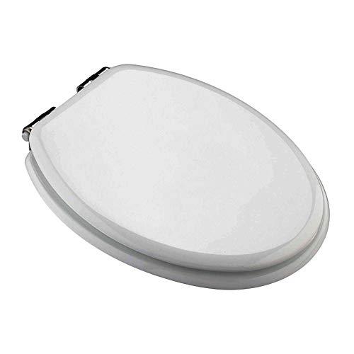 WC Sitz Toilettendeckel MDF mit Absenkautomatik in Weiß