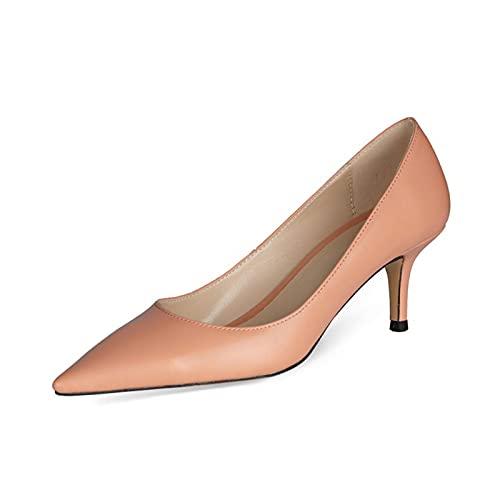 Zapatos De Tacón Mujer,Sandalias Puntiagudas, Asakuchi Cuero PU Color Sólido Tacón Alto...