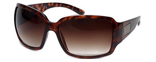 Fashion Sunglasses: Tortoise/Dark Brown Gradient, Demi, Size Medium
