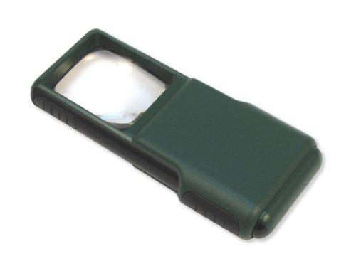 Carson MiniBrite Lupa Asférica Deslizable de 5x, con Luz LED y Funda Protectora
